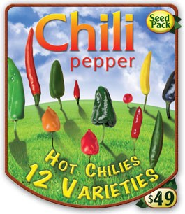 Chili Pepper Seed Pack