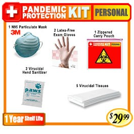 Personal Basic Pandemic Protection Kit