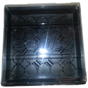 "10"" x 10""  Tray w/ clear lid - 5 pk."