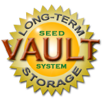 Heirloom Organics VAULT method for Long Term Storage